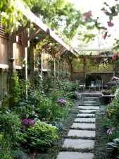 Wooden privacy fence patio & garden ideas (58)