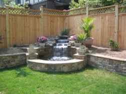 Wooden privacy fence patio & garden ideas (6)