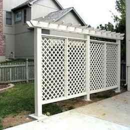 Wooden privacy fence patio & garden ideas (63)