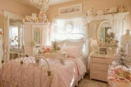 Adorable shabby chic bedroom decor ideas (21)