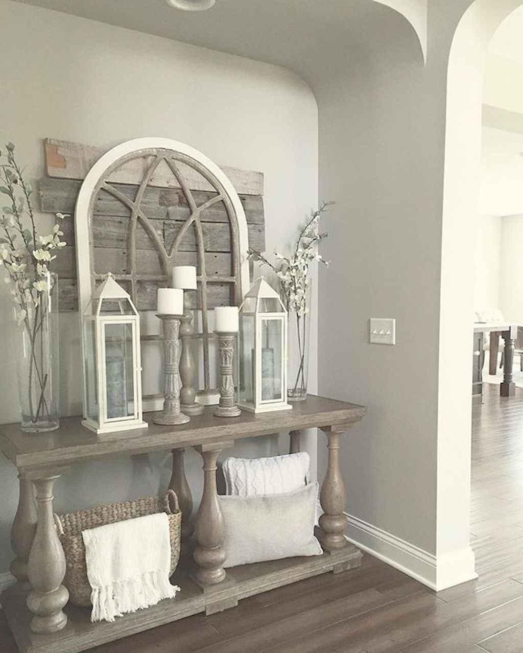 Catchy farmhouse rustic entryway decor ideas (14)