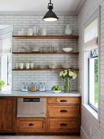 Clever small kitchen remodel and open shelves ideas (12)