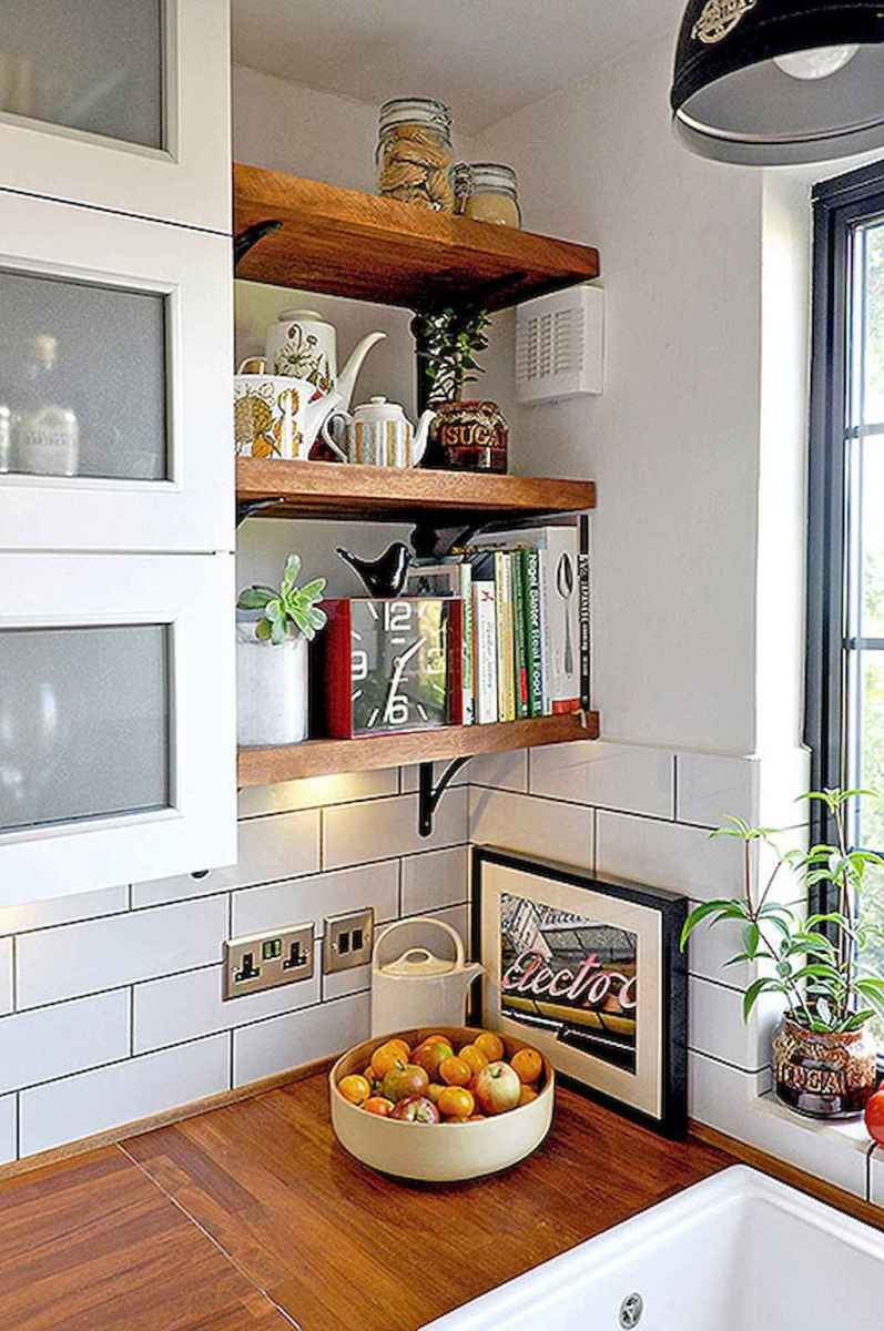 Clever small kitchen remodel and open shelves ideas (30)