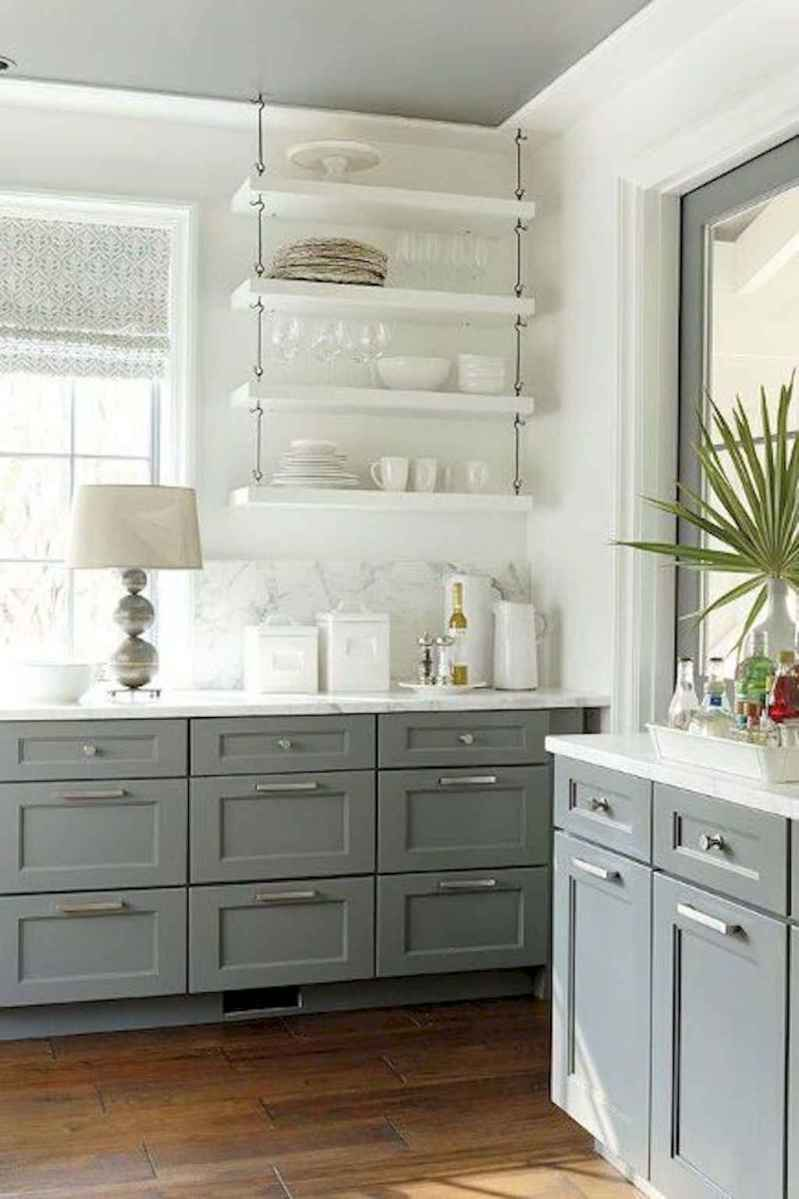 Clever small kitchen remodel and open shelves ideas (52)