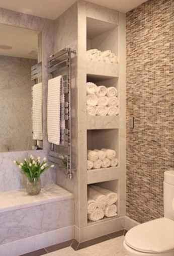 Cool bathroom storage shelves organization ideas (12)