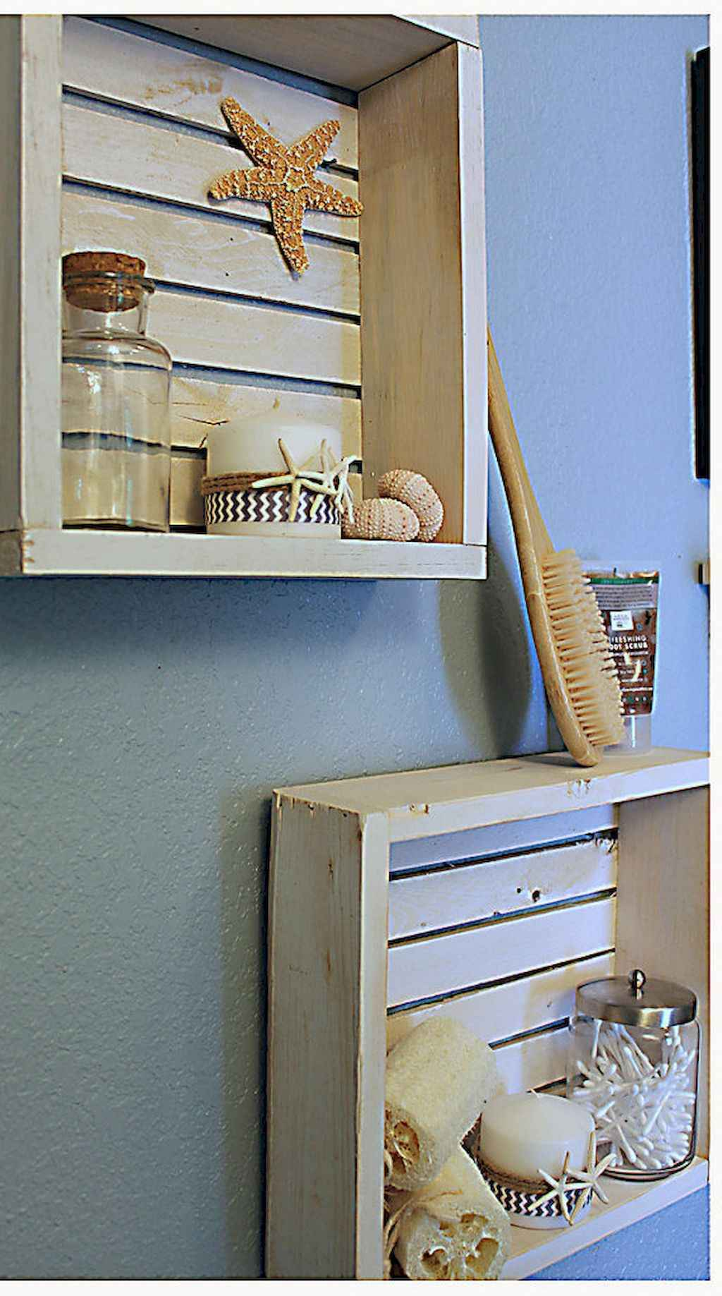 Cool bathroom storage shelves organization ideas (14)