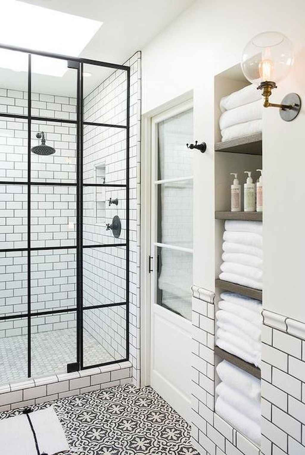 Cool bathroom storage shelves organization ideas (17)