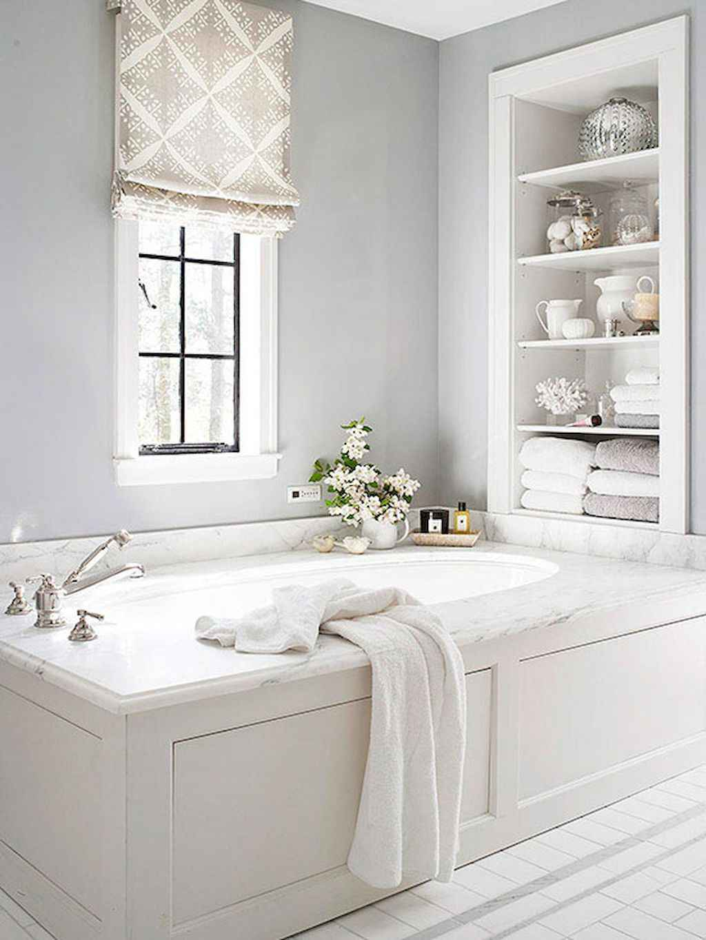 Cool bathroom storage shelves organization ideas (18)
