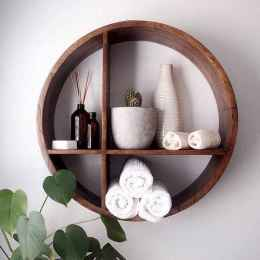 Cool bathroom storage shelves organization ideas (28)
