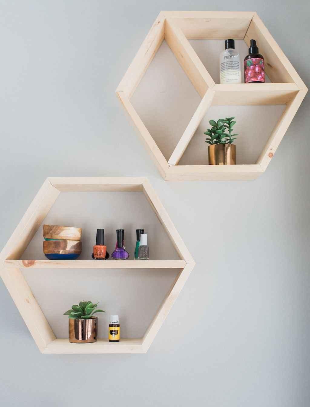 Cool bathroom storage shelves organization ideas (30)