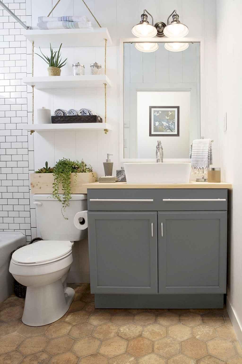 Cool bathroom storage shelves organization ideas (39)
