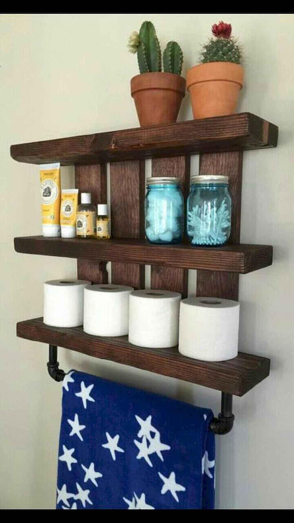 Cool bathroom storage shelves organization ideas (4)