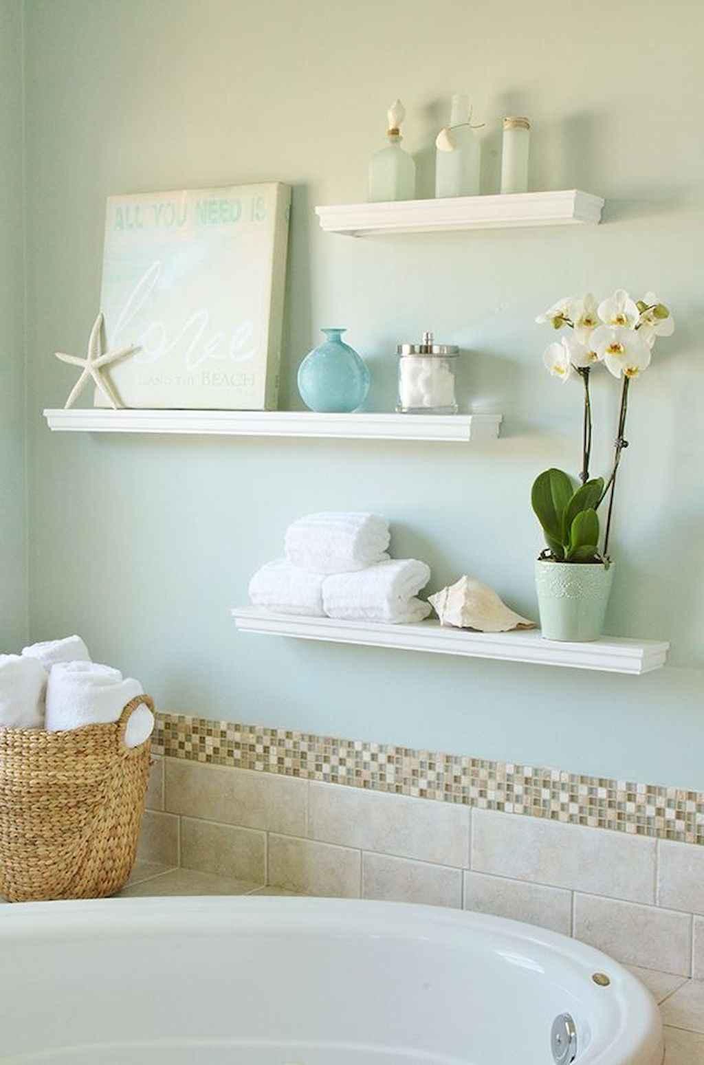 Cool bathroom storage shelves organization ideas (41)