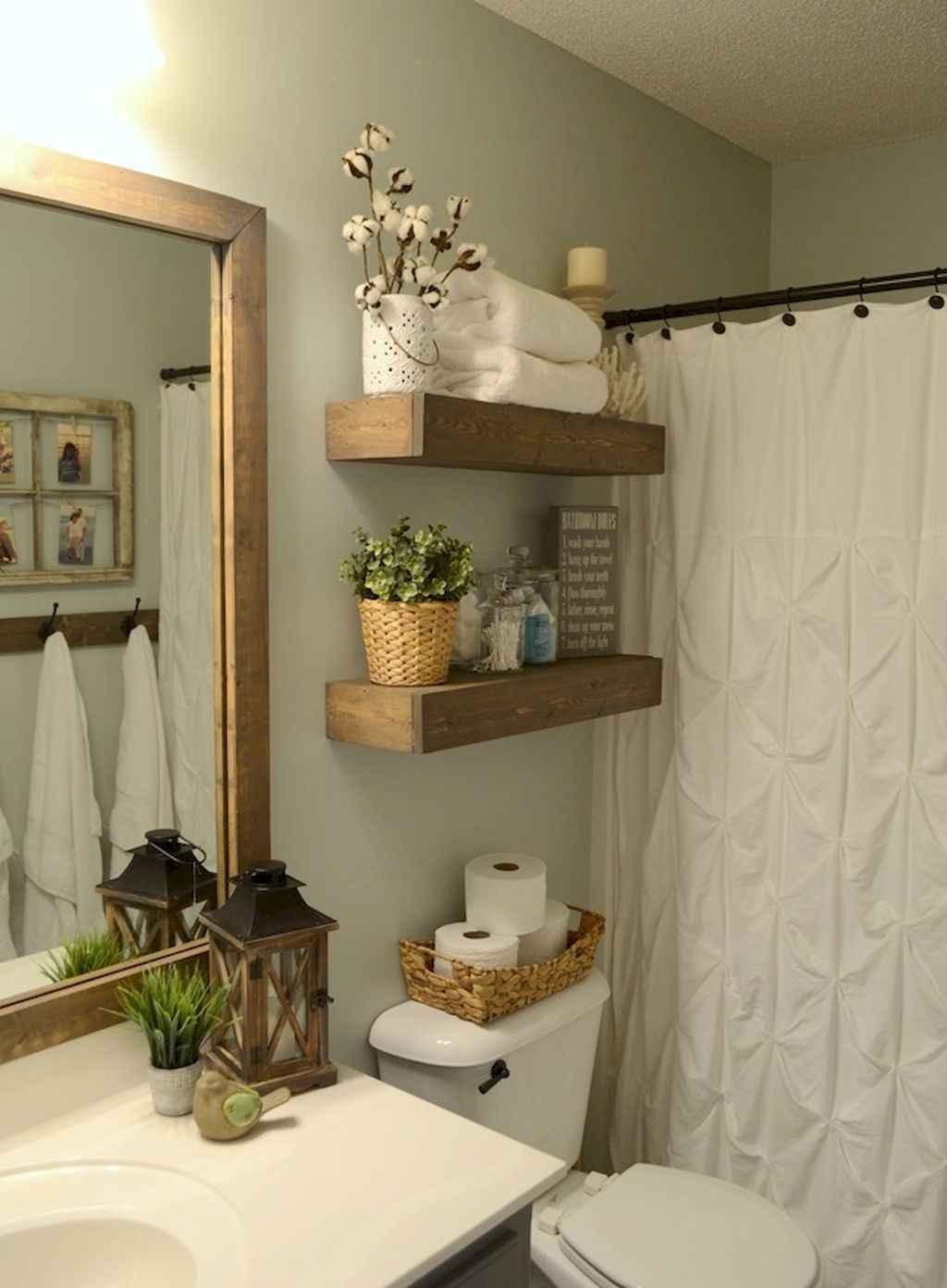 Cool bathroom storage shelves organization ideas (44)