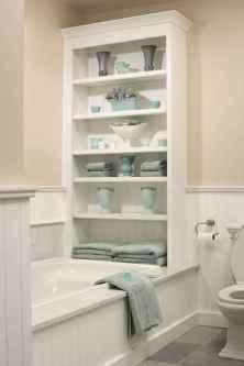 Cool bathroom storage shelves organization ideas (5)