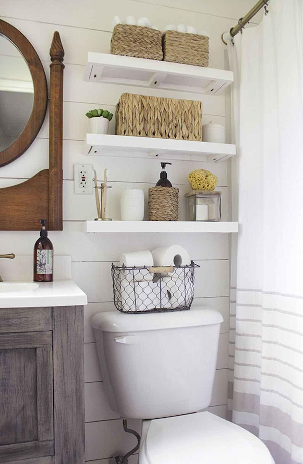 Cool bathroom storage shelves organization ideas (50)