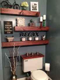 Cool bathroom storage shelves organization ideas (53)