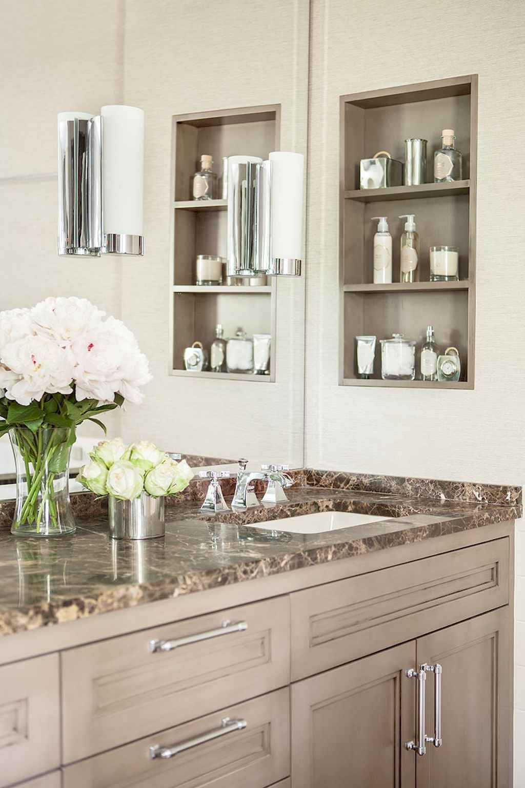 Cool bathroom storage shelves organization ideas (6)