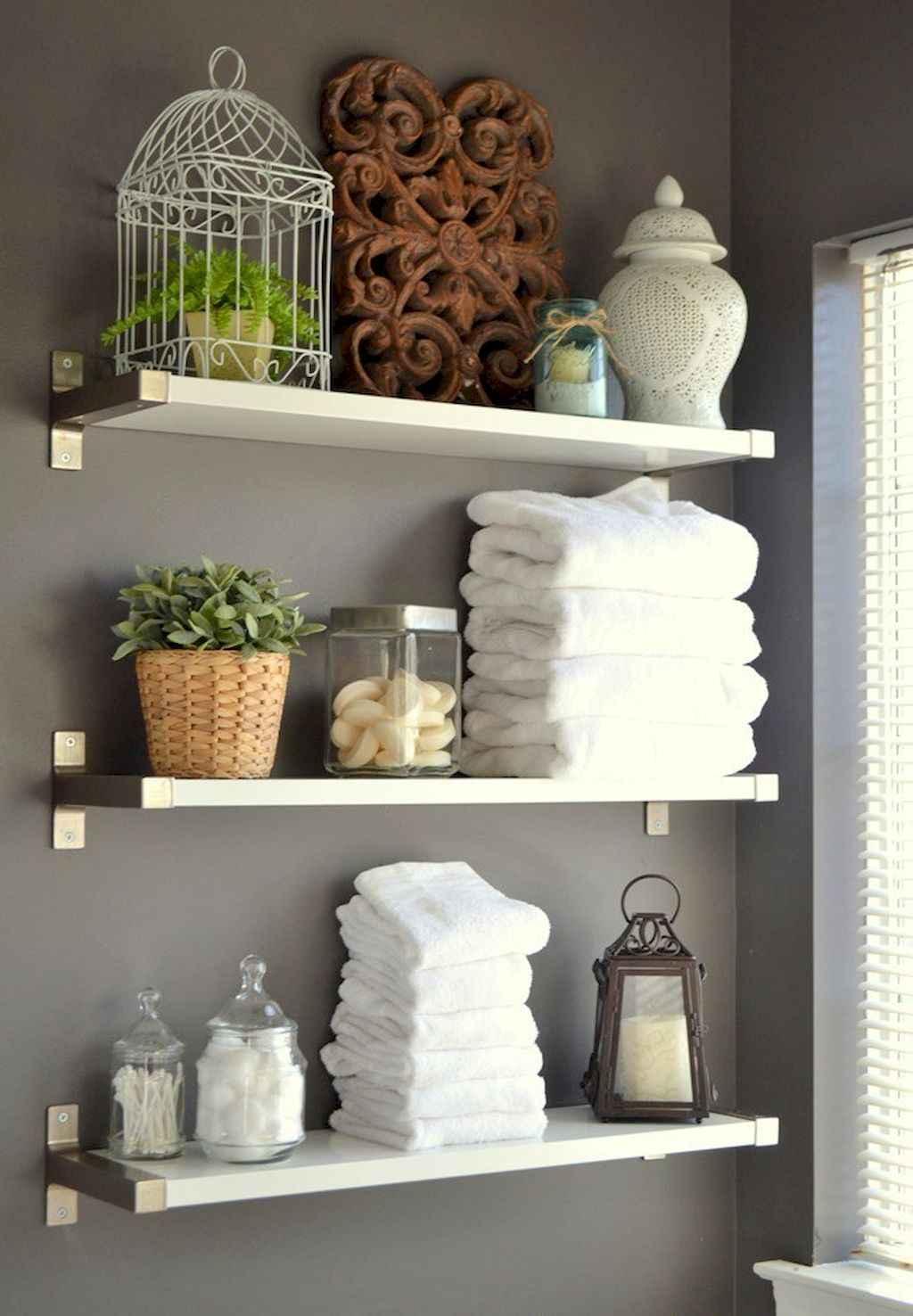 Cool bathroom storage shelves organization ideas (67)