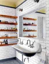 Cool bathroom storage shelves organization ideas (8)