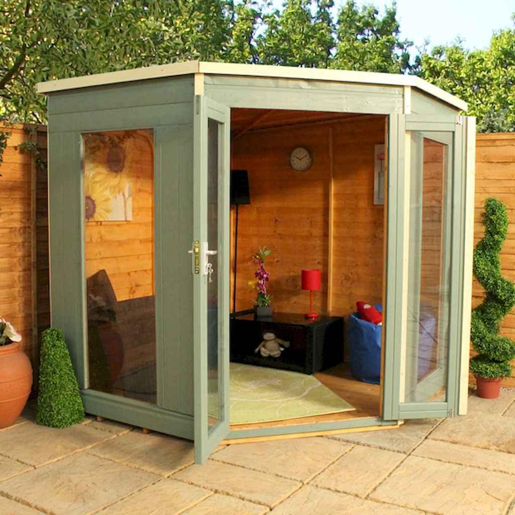 Cool diy backyard studio shed remodel design & decor ideas (12)