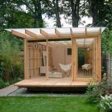 Cool diy backyard studio shed remodel design & decor ideas (22)