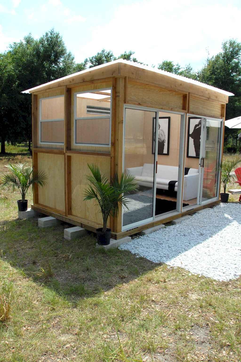 Cool diy backyard studio shed remodel design & decor ideas (26)