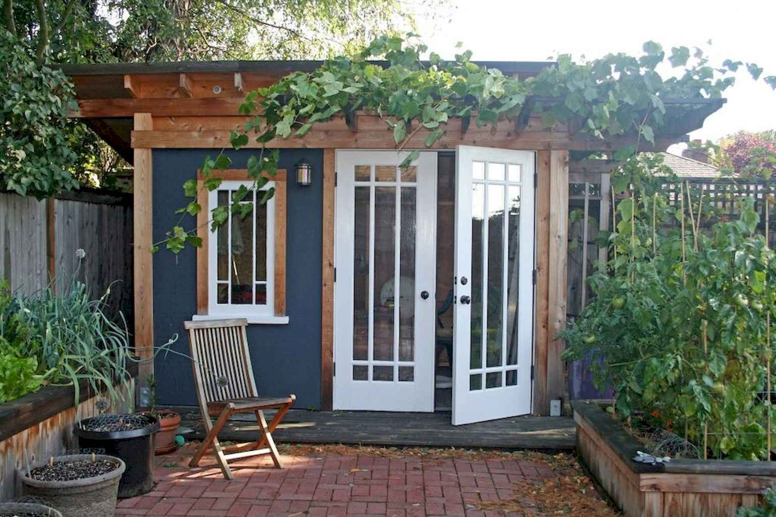 Cool diy backyard studio shed remodel design & decor ideas (3)