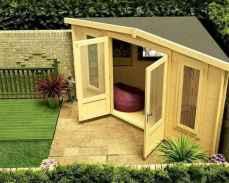 Cool diy backyard studio shed remodel design & decor ideas (33)