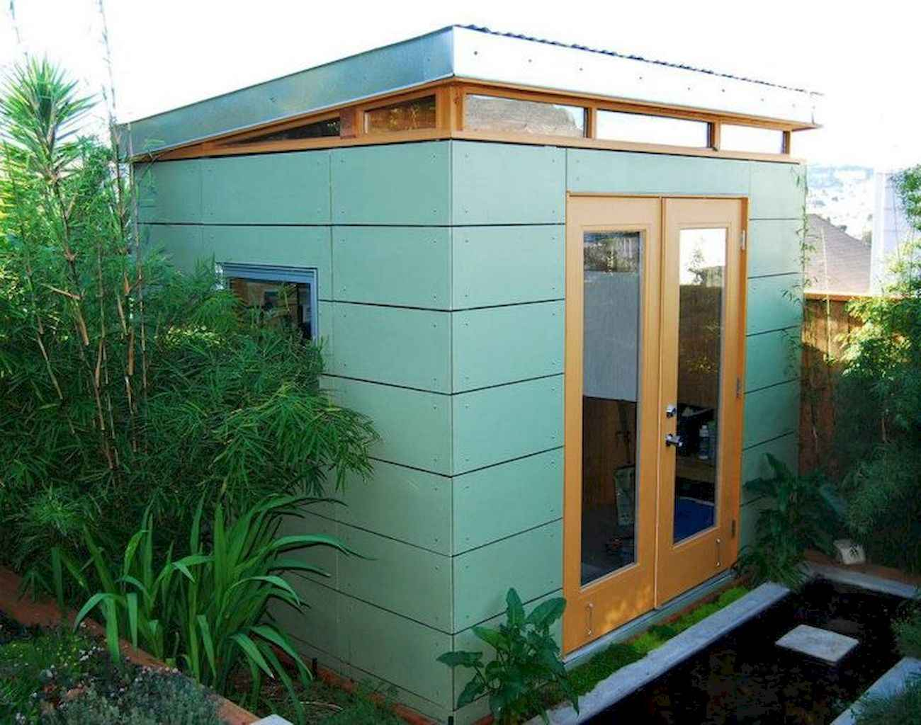 Cool diy backyard studio shed remodel design & decor ideas (37)