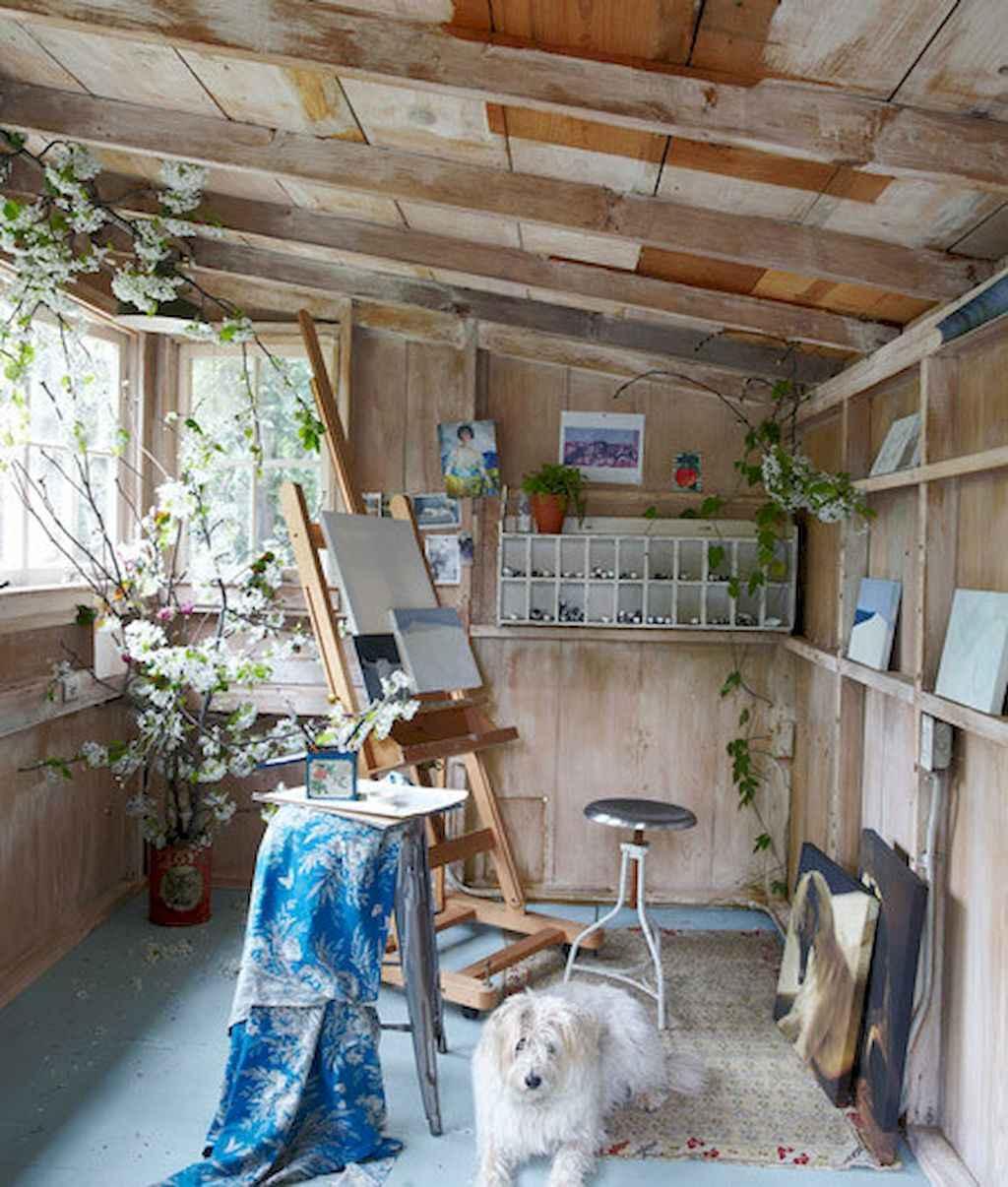 Cool diy backyard studio shed remodel design & decor ideas (38)