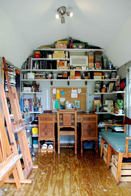 Cool diy backyard studio shed remodel design & decor ideas (4)