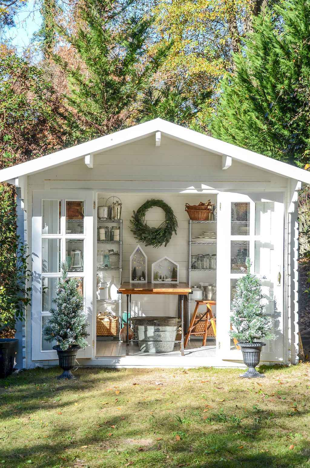 Cool diy backyard studio shed remodel design & decor ideas (41)