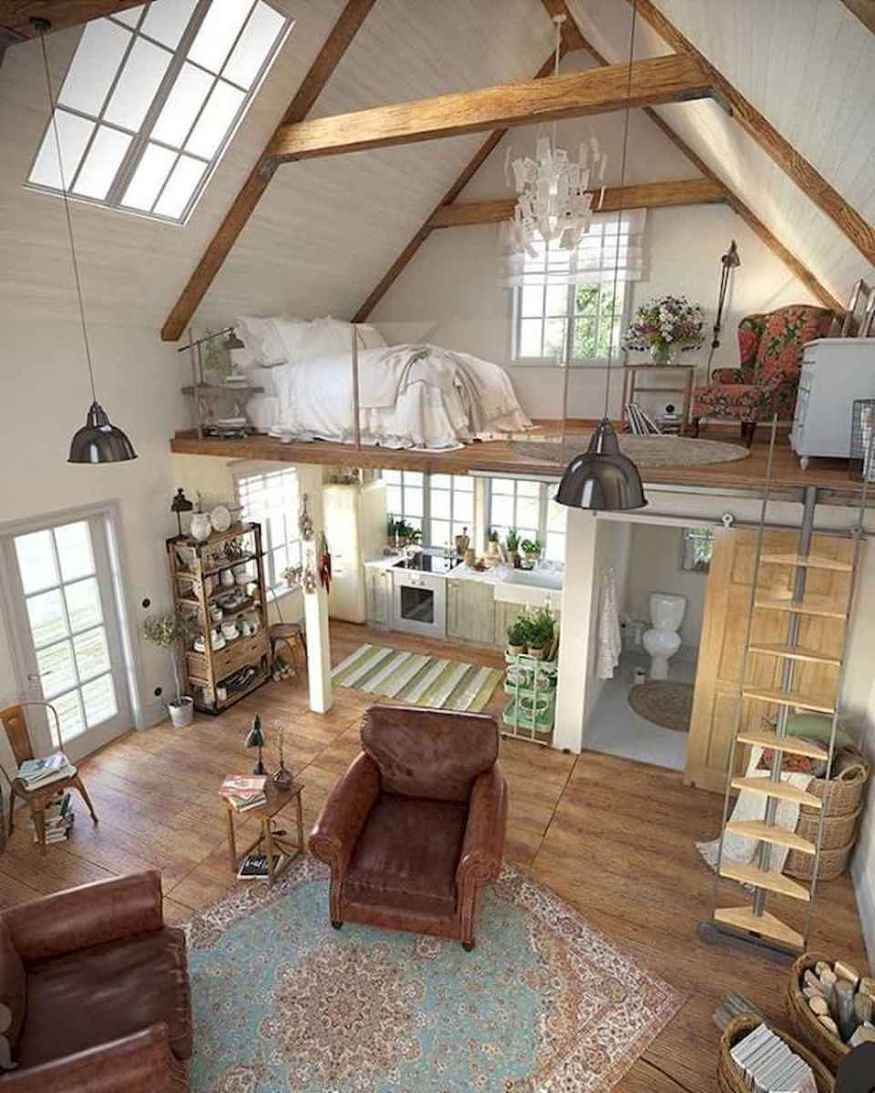 Cozy attic loft bedroom design & decor ideas (23)