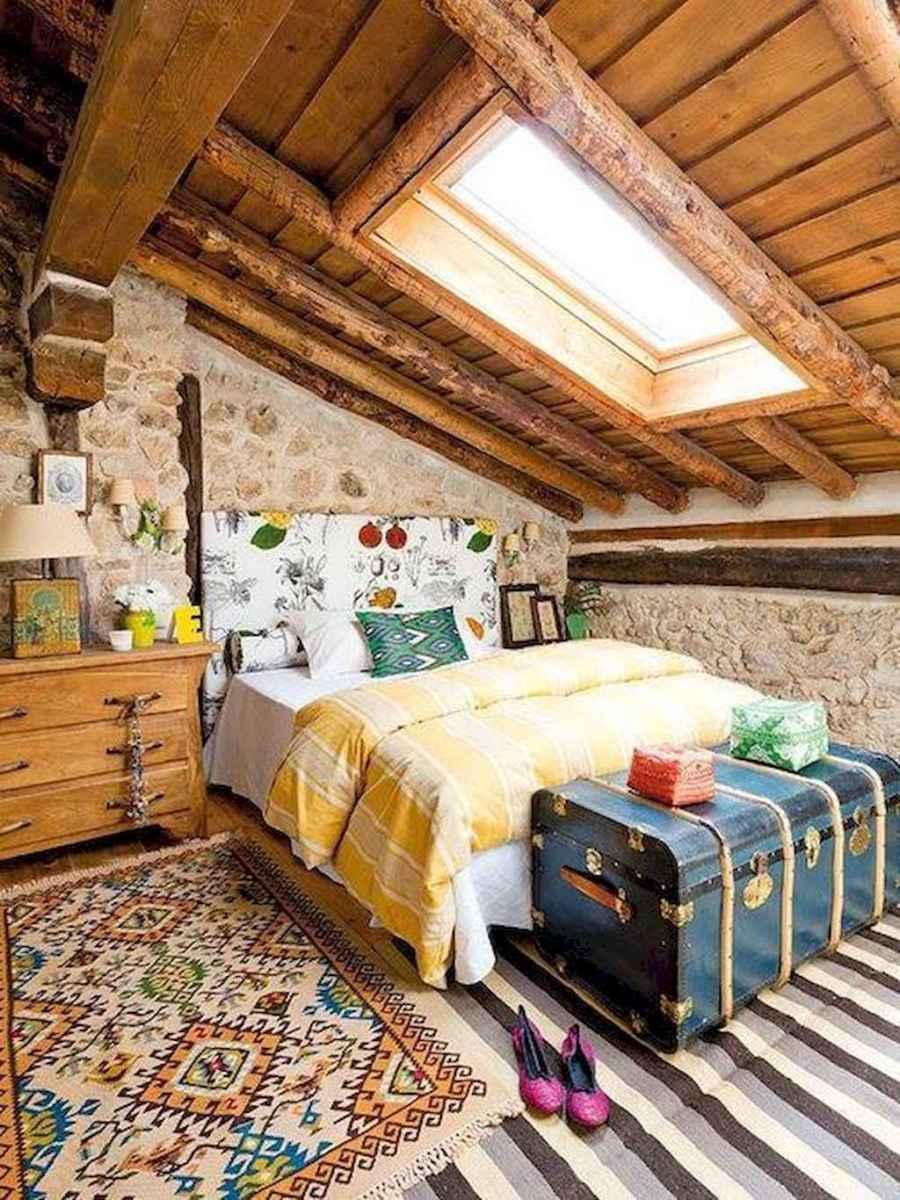 Cozy attic loft bedroom design & decor ideas (30)