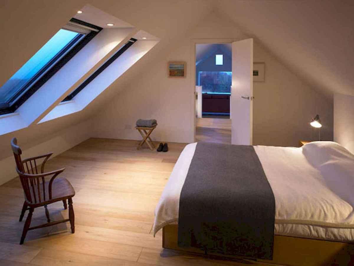 Cozy attic loft bedroom design & decor ideas (37)