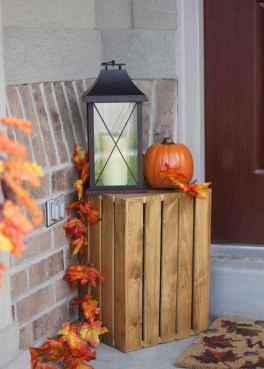 Creative diy fall porch decorating ideas (23)