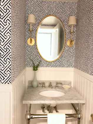 Fresh and cool powder room design & decoration ideas (39)