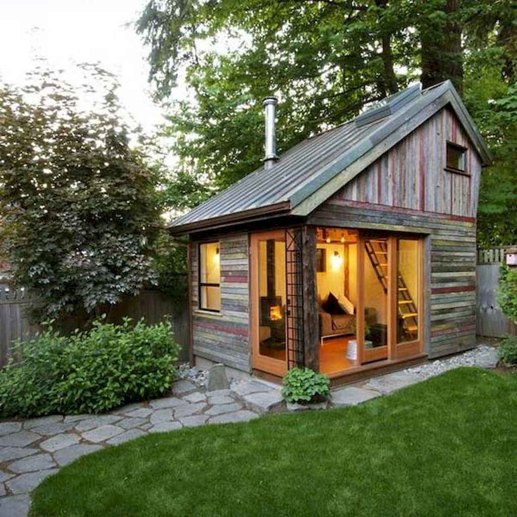 Incredible backyard storage shed makeover design ideas (16)
