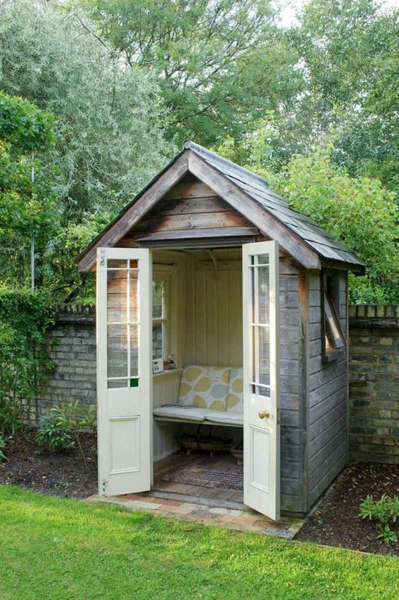 Incredible backyard storage shed makeover design ideas (17)