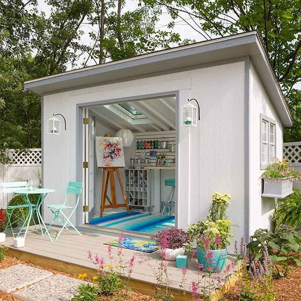 Incredible backyard storage shed makeover design ideas (22)