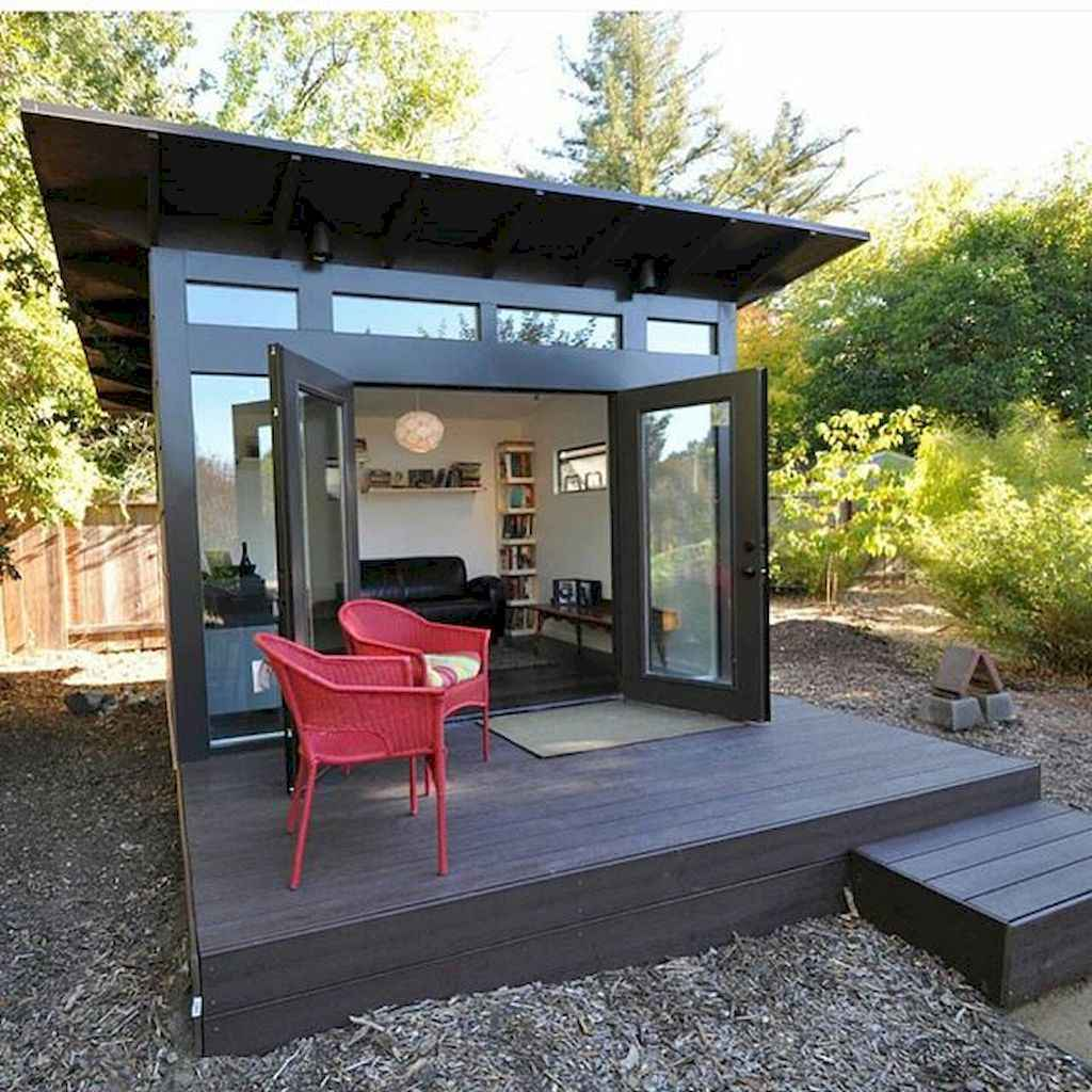 Incredible backyard storage shed makeover design ideas (23)
