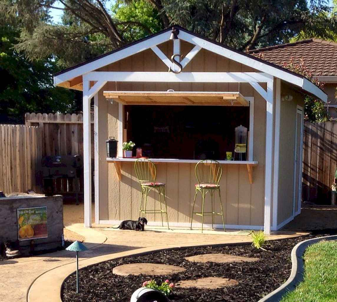 Incredible backyard storage shed makeover design ideas (33)