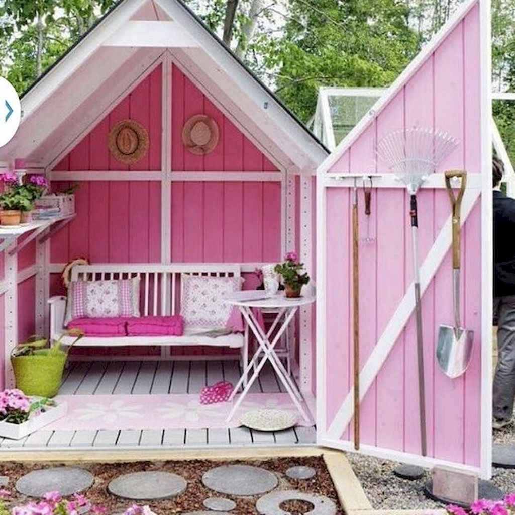 Incredible backyard storage shed makeover design ideas (43)