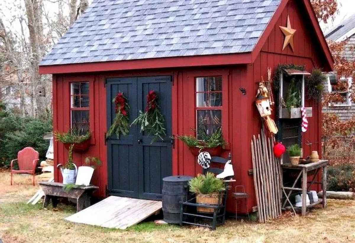 Incredible backyard storage shed makeover design ideas (47)