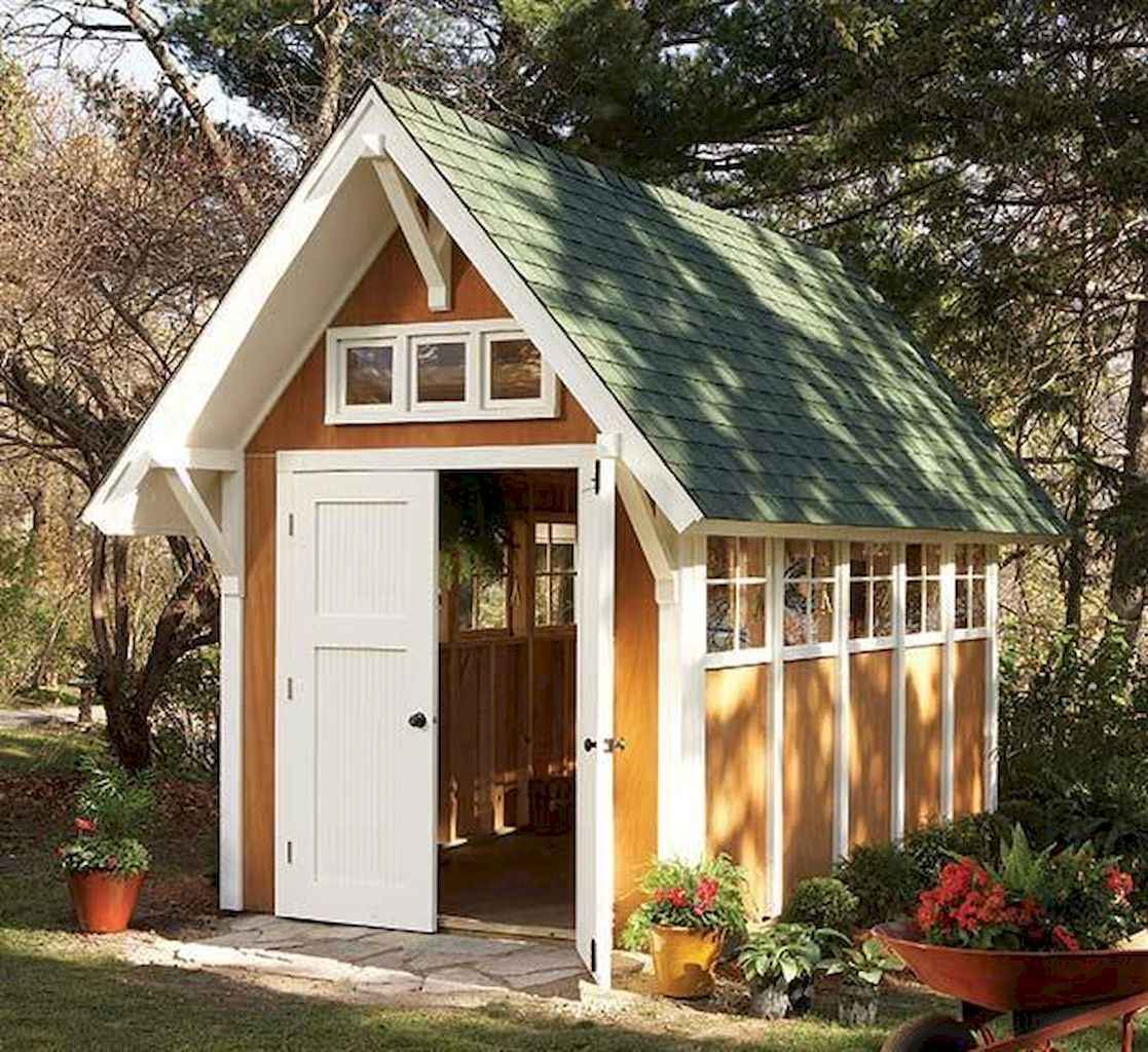 Incredible backyard storage shed makeover design ideas (60)