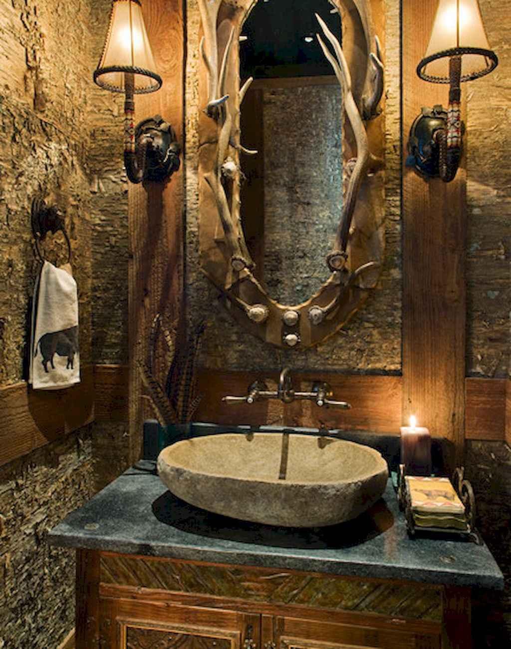 Inspiring rustic bathroom decor ideas (33)