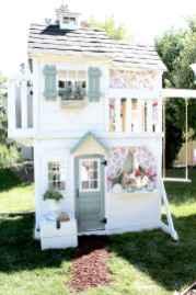 Magically sweet backyard playhouse ideas for kids garden (10)