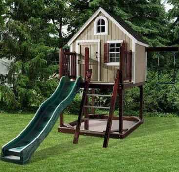 Magically sweet backyard playhouse ideas for kids garden (16)