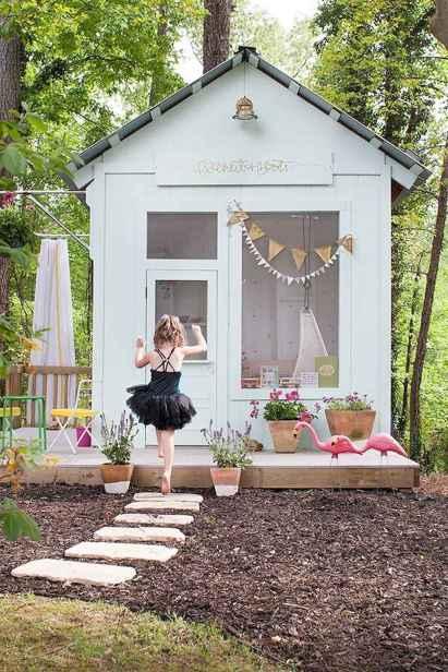 Magically sweet backyard playhouse ideas for kids garden (17)